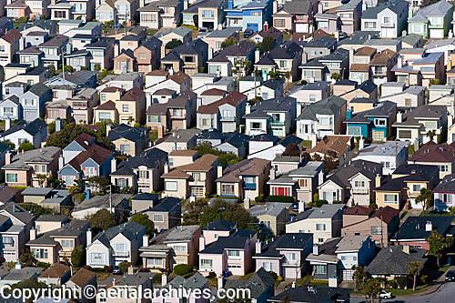 aerial photograph residential neighborhood Daly City California
