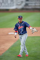 Bryan Torres (1) of the Rocky Mountain Vibes during the game against the Ogden Raptors at Lindquist Field on July 4, 2019 in Ogden, Utah. The Raptors defeated the Vibes 4-2. (Stephen Smith/Four Seam Images)