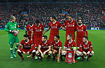 The Liverpool team get together for a team picture during the Champions League Semi Final 1st Leg match at Anfield Stadium, Liverpool. Picture date: 24th April 2018. Picture credit should read: Simon Bellis/Sportimage
