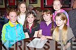 PUPILS: Supporting their school Scoil Chriostí Rí Causeway were pupils by taken part in the fund raising quise at Mchales Bar & Restaurant, Causeway, they were, Michealla Barrett, Ivana Nelan, Norah leen, Ciara O'Hanlon, Eirka Diggin and Debora Canty.