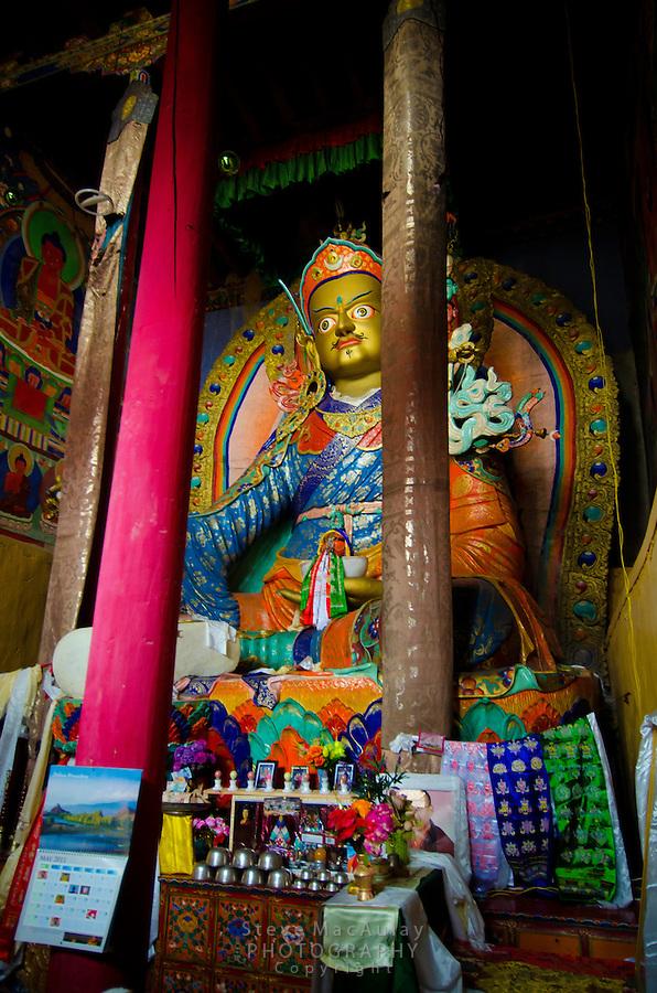 Drukpa Buddhist Buddha at Hemis Monastary, Karu, Ladakh, India.