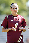 26 October 2014: Boston College's Coco Woeltz. The Duke University Blue Devils hosted the Boston College University Eagles at Koskinen Stadium in Durham, North Carolina in a 2014 NCAA Division I Women's Soccer match. Duke won the game 2-1 in overtime.