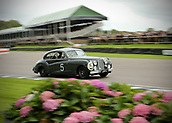 10th September 2017, Goodwood Estate, Chichester, England; Goodwood Revival Race Meeting; A Jaguar mkv11 exits the Goodwood chicane