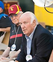 San Francisco, CA - October 13, 2011: USC ex head coach John Robinson.Cal Bears vs USC at AT&T Park in San Francisco, California. Final score Cal Bears 9, USC 30.