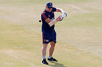 Anthony McGrath of Essex leads slip fielding drills prior to Essex CCC vs Surrey CCC, Bob Willis Trophy Cricket at The Cloudfm County Ground on 9th August 2020