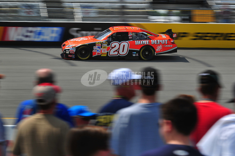 May 2, 2008; Richmond, VA, USA; NASCAR Sprint Cup Series driver Tony Stewart during practice for the Dan Lowry 400 at the Richmond International Raceway. Mandatory Credit: Mark J. Rebilas-