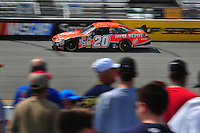 May 2, 2008; Richmond, VA, USA; NASCAR Sprint Cup Series driver Tony Stewart during practice for the Dan Lowry 400 at the Richmond International Raceway. Mandatory Credit: Mark J. Rebilas-