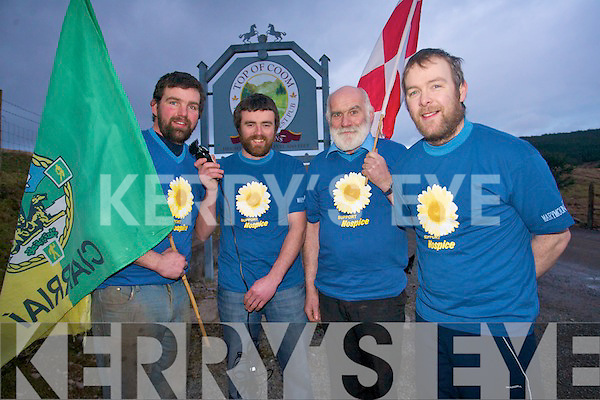 Most known as rivals on the field the Kerry and Cork contingent from Kilgarvan and Coolea/Ballyvourney are holding back their rivarly as they grow their beards and hair for a major cancer fund-raiser at the Top of Coom. .L-R Tim Creedon, Denis McCarthy, Johnny Sweeney and John Creedon