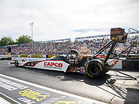 Sep 22, 2017; Mohnton, PA, USA; NHRA top fuel driver Steve Torrence during the Dodge NHRA Nationals at Maple Grove Raceway. Mandatory Credit: Mark J. Rebilas-USA TODAY Sports