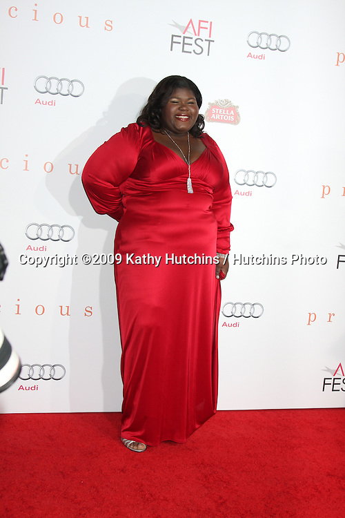 "Gabourey 'Gabby' Sidibe.arriving at the ""Precious: Based on the Novel Push by Sapphire"" Los Angeles Premiere.Grauman's Chinese Theater.Los Angeles,  CA.November 1, 2009.©2009 Kathy Hutchins / Hutchins Photo."