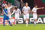 10.08.2019, wohninvest Weserstadion, Bremen, GER, DFB-Pokal, 1. Runde, SV Atlas Delmenhorst vs SV Werder Bremen<br /> <br /> DFB REGULATIONS PROHIBIT ANY USE OF PHOTOGRAPHS AS IMAGE SEQUENCES AND/OR QUASI-VIDEO.<br /> <br /> im Bild / picture shows<br /> <br /> 0:1 Werder durch Yuya Osako (Werder Bremen #08) vorlage Theodor Gebre Selassie (Werder Bremen #23)<br /> Marco Friedl (Werder Bremen #32)<br /> Foto © nordphoto / Kokenge