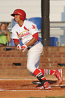 Johnson City Cardinals Romulo Ruiz at Howard Johnson Field in Johnson City, Tennessee July 6, 2010.   Johnson City won the game 6-5.  Photo By Tony Farlow/Four Seam Images