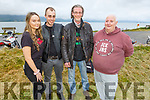 Rachel Murphy (Ardfert), Johnny Downey (Tralee), Michael Collins (Banna Beach) and Ollie White (Tralee) at the South West MCC 27th Missing Link Rally and BBQ in the Tankard Bar on Friday night.