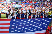 DECINES-CHARPIEU, FRANCE - JULY 07: USA starting eleven during the 2019 FIFA Women's World Cup France Final match between Netherlands and the United States at Groupama Stadium on July 07, 2019 in Decines-Charpieu, France.