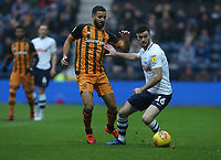 Preston North End's Andrew Hughes and Hull City's Kevin Stewart<br /> <br /> Photographer Stephen White/CameraSport<br /> <br /> The EFL Sky Bet Championship - Preston North End v Hull City - Wednesday 26th December 2018 - Deepdale Stadium - Preston<br /> <br /> World Copyright &copy; 2018 CameraSport. All rights reserved. 43 Linden Ave. Countesthorpe. Leicester. England. LE8 5PG - Tel: +44 (0) 116 277 4147 - admin@camerasport.com - www.camerasport.com