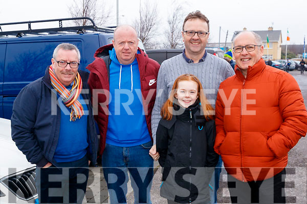 Francis Foley, John Foley, Ben Foley, Ruby Foley and Brendan Cassidy, pictured at the Lacey Cup Cycle on Sunday morning last.