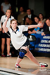 14 APR 2012: Michelle Hunzacker (42) watches her throw during the first game against University of Maryland Eastern Shore during the Division I Womens Bowling Championship held at Freeway Lanes in Wickliffe, OH.  The University of Maryland Eastern Shore defeated Fairleigh Dickinson 4-2 to win the national title.  Jason Miller/NCAA Photos
