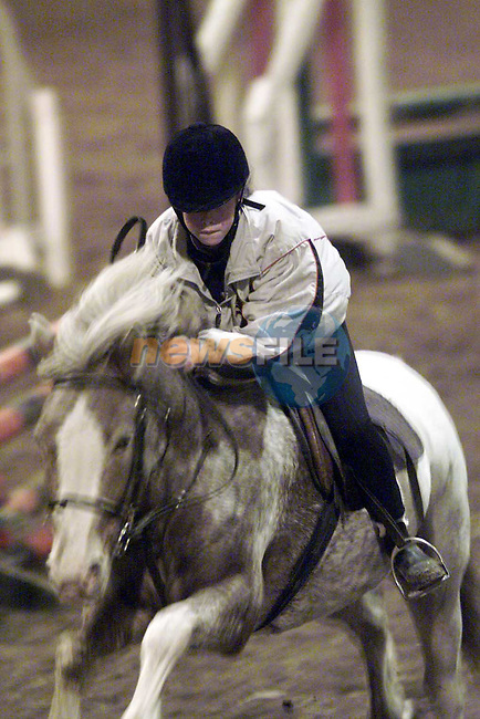 Action from the Showjumping Finals in the Castlehill Equestrian Centre..Picture: Paul Mohan/Newsfile