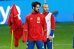 Spain's Isco Alarcon (l) and Andres Iniesta during training session. March 23,2017.(ALTERPHOTOS/Acero)