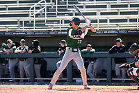 CARY, NC - FEBRUARY 23: Freddy Sabido #33 of Wagner College waits for a pitch during a game between Wagner and Penn State at Coleman Field at USA Baseball National Training Complex on February 23, 2020 in Cary, North Carolina.
