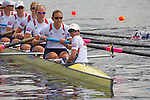 Rowing, United States Women's eight,  8+, Anna Goodale, Amanda Polk, Jamie Redman, Taylor Ritzel, Esther Lofgren, Elanor Logan, Meghan Musnicki, Katherine Glessner, stroke, Mary Whipple, cox, heat, November 3, 2010, 2010 FISA World Rowing Championships, Lake Karapiro, Hamilton, New Zealand, first place, advanced to final,