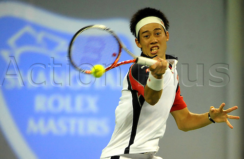 14.10.2011, Shanghai, China. Kei Nishikori of Japan defeats Alexandr Dolgopolov of Ukraine 2:0 during a quarterfinal match of the 2011 Shanghai Rolex Masters at the Qizhong Tennis Center. Mandatory Credit ActionPlus