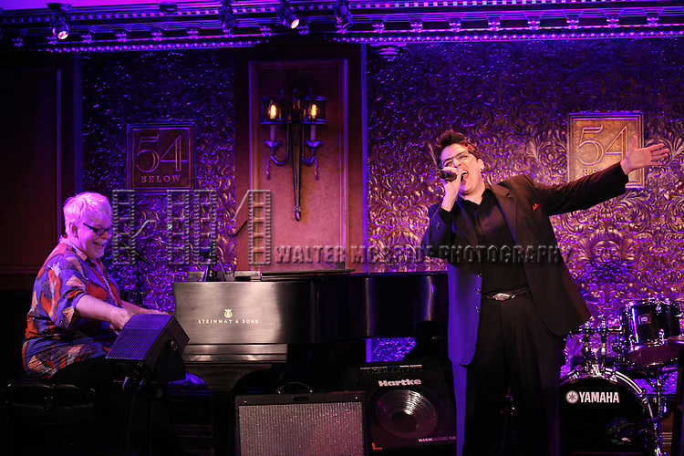 Ricky Ritzel with Terese Genecco performing a press preview at 54 Below on 10/24/2012 in New York City.