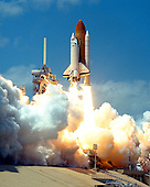 The STS-90 Neurolab mission is launched from Pad 39B at Cape Canaveral, Florida on April 17, 1998 aboard the Space Shuttle Columbia.<br /> Credit: NASA / CNP