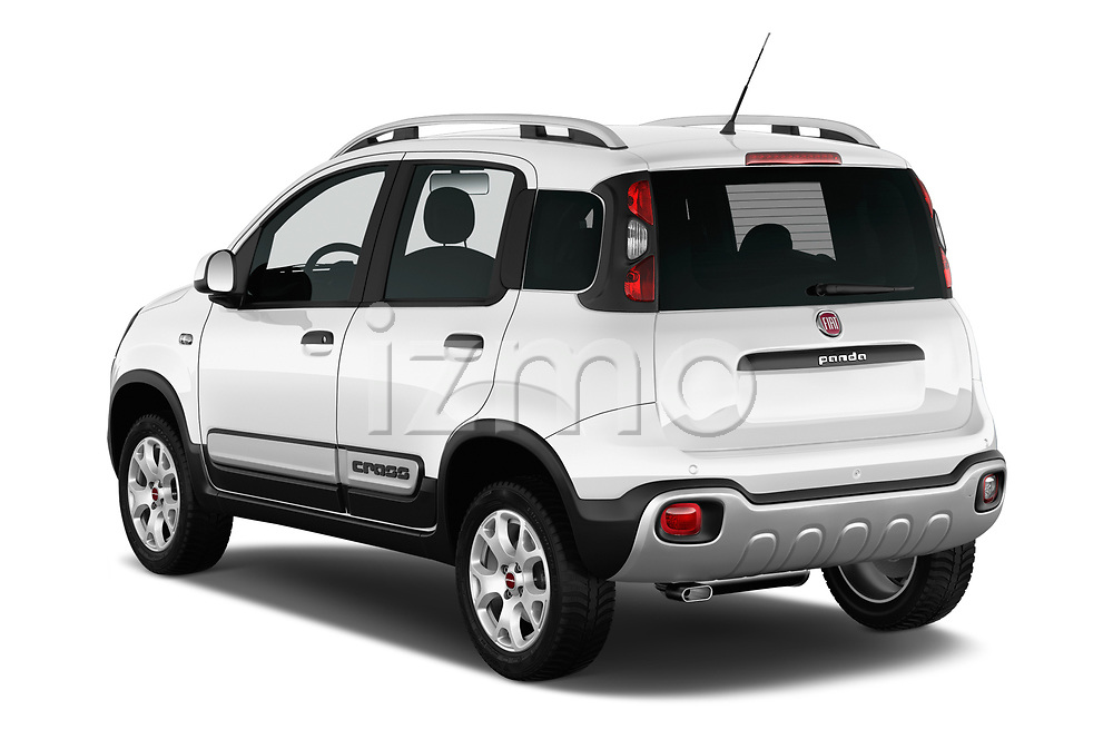 Car pictures of rear three quarter view of 2017 Fiat Panda Cross 5 Door SUV Angular Rear
