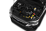 Car stock 2018 Subaru Crosstrek 4wd 5 Door SUV engine high angle detail view