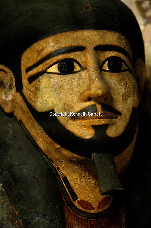 Funerary mask, cartonnage, Egyptian Museum, Cairo, Middle Kingdom, unknown provenace, Egypt of the Pharaohs