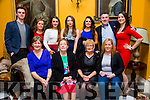 Enjoying Ballygarry Hotel staff party at Ballyseede Castle were front l-r Mary Creed, Pegg Kerrisk, Noreen Casey, Rosie Sells, Back, l-r  Jimmy O'Riordan, Edel Powell, Alisia O'Sullivan, Jennifer Snook, Aveen O'Connor, Donal Hart and Cornelia Prenderville