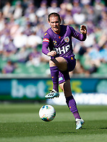 3rd November 2019; HBF Park, Perth, Western Australia, Australia; A League Football, Perth Glory versus Central Coast Mariners; Neil Kilkenny of the Perth Glory passes the ball through midfield - Editorial Use