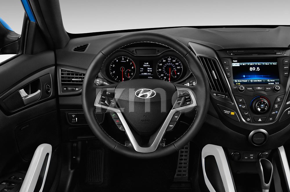 Car pictures of steering wheel view of a 2017 Hyundai Veloster Turbo-Manual 5 Door Hatchback Steering Wheel