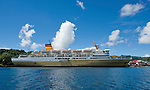 PELNI, the national passenger ferry of Indonesia, services the Banda Islands.