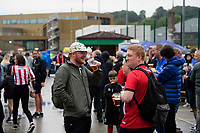 Lincoln City fans enjoy the pre-match atmosphere<br /> <br /> Photographer Chris Vaughan/CameraSport<br /> <br /> The Carabao Cup Second Round - Lincoln City v Everton - Wednesday 28th August 2019 - Sincil Bank - Lincoln<br />  <br /> World Copyright © 2019 CameraSport. All rights reserved. 43 Linden Ave. Countesthorpe. Leicester. England. LE8 5PG - Tel: +44 (0) 116 277 4147 - admin@camerasport.com - www.camerasport.com