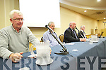 Speakers at the teachers meeting on Monday evening at the Brandon hotel, on Monday evening, were l-r: Gerard Doyle (secretary of Tralee branch of the INTO) Tim O'Sullivan (secretary District 13 of INTO Kerry and Limerick), Denis O'Sullivan (vice chairperson of District 13, which represents the teachers of Kerry and Limerick) and Brendan O'Sullivan (president of INTO)