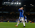 Wayne Rooney of Everton celebrates his first half goal during the Europa League Group E match at Goodison Park Stadium, Liverpool. Picture date: September 28th 2017. Picture credit should read: Simon Bellis/Sportimage