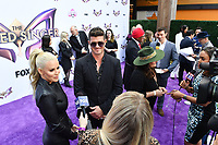 """LOS ANGELES - JUNE 4: Jenny McCarthy and Robin Thicke attend an Emmy FYC event for Fox's """"The Masked Singer"""" at Westfield Century City on June 4, 2019 in Los Angeles, California. (Photo by Vince Bucci/Fox/PictureGroup)"""