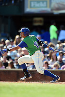 Lexington Legends designated hitter Samir Duenez (16) at bat during a game against the Hagerstown Suns on May 19, 2014 at Whitaker Bank Ballpark in Lexington, Kentucky.  Lexington defeated Hagerstown 10-8.  (Mike Janes/Four Seam Images)