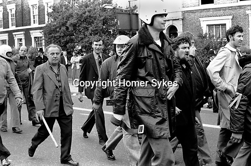National Front march to Lewisham London 1977. <br />