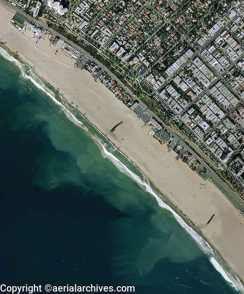 aerial map view Santa Monica beach California