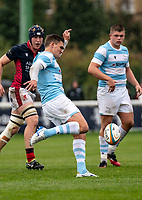 Toby Flood of Newcastle Falcons during the Greene King IPA Championship match between London Scottish Football Club and Newcastle Falcons at Richmond Athletic Ground, Richmond, United Kingdom on 12 October 2019. Photo by Liam McAvoy.