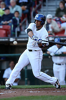 April 14, 2010:  Outfielder Fernando Martinez of the Buffalo Bisons at bat during a game at Coca-Cola Field in Buffalo, New York.  The Bisons are the Triple-A International League affiliate of the New York Mets.  Photo By Mike Janes/Four Seam Images
