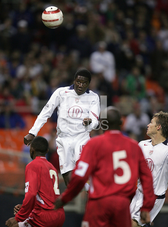 Eddie Johnson, Panama vs USA, World Cup qualifier at RFK Stadium, 2004.
