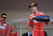 May 28th 2017, Monaco; F1 Grand Prix of Monaco Race Day;  Sebastian Vettel - Scuderia Ferrari wins the Monaco GP