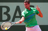 MARIN CILIC (CRO) ..Tennis - Grand Slam - French Open- Roland Garros - Paris - Sat May 26th 2012..© AMN Images, 30, Cleveland Street, London, W1T 4JD.Tel - +44 20 7907 6387.mfrey@advantagemedianet.com.www.amnimages.photoshelter.com.www.advantagemedianet.com.www.tennishead.net