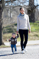 Princess Victoria Of Sweden with daughter Princess Estelle - Sweden