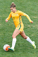 June 4, 2016: STEPHANIE CATLEY (7) of Australia controls the ball during an international friendly match between the Australian Matildas and the New Zealand Football Ferns as part of the teams' preparation for the Rio Olympic Games at Morshead Park in Ballarat. Photo Sydney Low