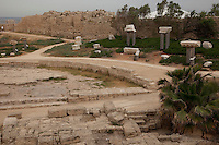 King Herod built a theater and palace next to the sea at Caesarea.  Gentiles first heard the Good News from Paul here.